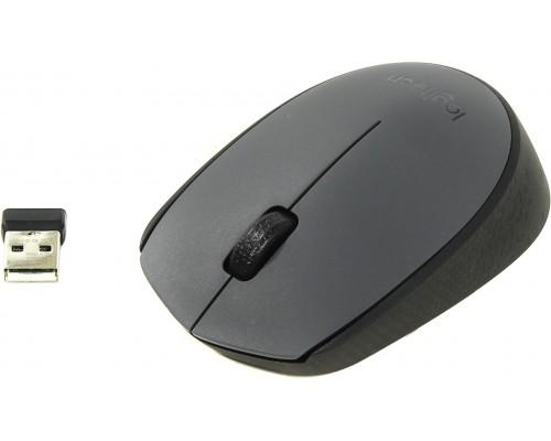 Мышь Logitech Wireless Mouse M170 беспроводная оптическая 1000 dpi USB черно-серый (910-004642)