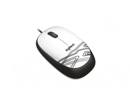 Мышь Logitech Mouse M105, оптич., 1000dpi, 2кн.+скр., белый-черный с рисунком, USB (910-002944)