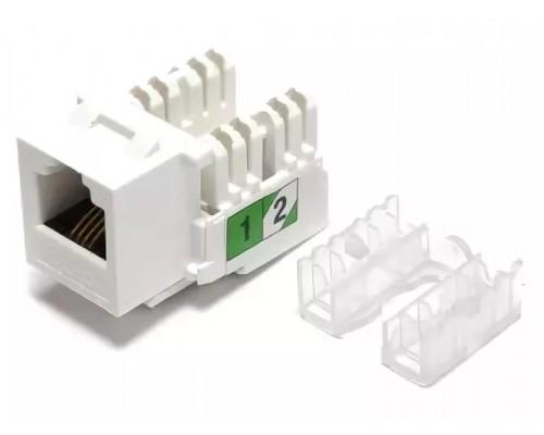 Модуль Keystone RJ12 6P4C кат.3 безинструментальный  для розеток и лицевых панелей, Krauler KR-FPXX-KST-Ex и KR-WOXX-KST-Ex
