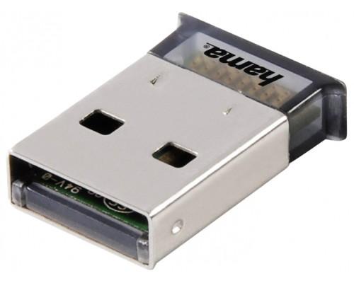 Адаптер Bluetooth Hama H-49218, Nano 4.0+EDR class2, 10м, 3 Мбит/с, USB2.0, mini