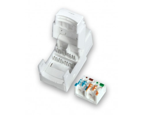 Модуль Keystone RJ45 8P8C cat.6 110 IDC безинструментальный  для розеток и лицевых панелей, Krauler KR-KU TL6