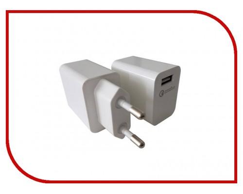 Адаптер питания 220В -> 3,6-12B, 3000mA ACD ACD-Q181-X3W, поддержка Qualcomm Quick Charge 3.0, белый (USB A)