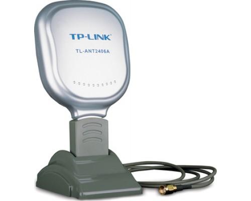Антенна TP-LINK TL-ANT2406A 2.4GHZ, 6DBi, Indoor, направленная: 120° по горизонтали, 90° по вертикали , длина кабеля 1,3м