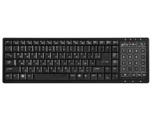 Клавиатура Defender TouchBoard MT-525 Nano Black, беспроводная, USB, сенсорная панель, черный (45525)