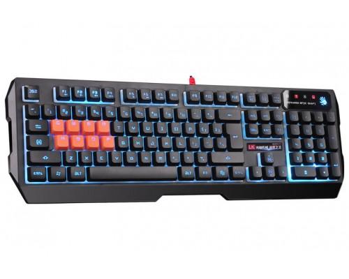 Клавиатура A4Tech Bloody B188 игровая многоцветная подсветка символов 8 механических клавиш QWERASDF USB черный