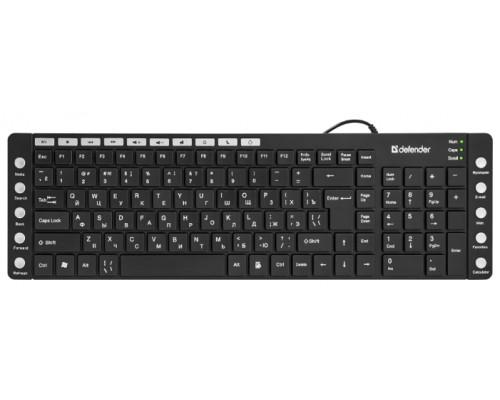 Клавиатура Defender OfficeMate MM-810, USB, черный (45810)