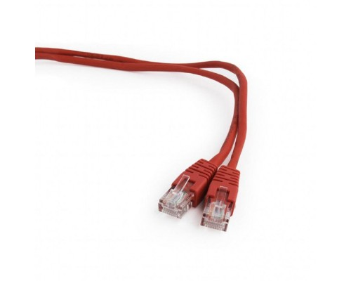 Кабель Patch Cord UTP Cat 5e 0,5м литой, красный