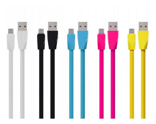 Кабель USB AM-microB 5Pin ACD ACD-U920-M1L, оплетка из термоэластопласта, материал провода - медь, 1м, синий