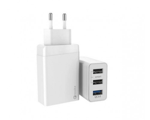 Адаптер питания 220V -> 5V 2400mA ACD ACD-Q303-X3W 3xUSB A Qualcomm Quick Charge 3.0 белый