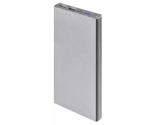 Аккумулятор Buro RA-12000-AL Power Bank универсальный, для портативных устройств, 12000mAh, Li-Pol, 2xUSB, серебристый
