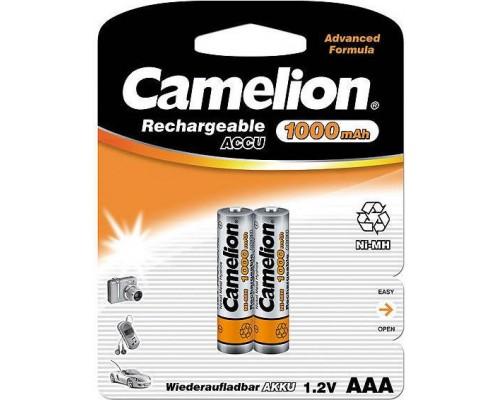 Аккумулятор AAA Camelion NH-AAA1000BP2 Ni-MH 1000 mAh (1шт)