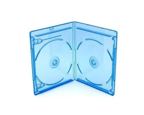 Бокс для  2 Blu-Ray дисков, (11мм) синий