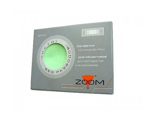 Салфетка чистящая Konoos Zoom KFS-1, из микрофибры (12х12см), для объективов и ЖК-экранов