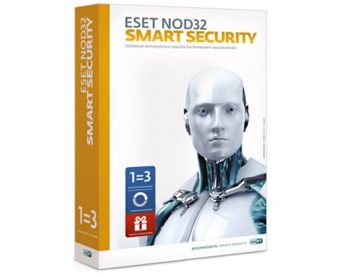 Антивирусная программа: ESET NOD32 Smart Security (NOD32-ESS-2012RN(BOX)-1-1) на 3 ПК/12 мес