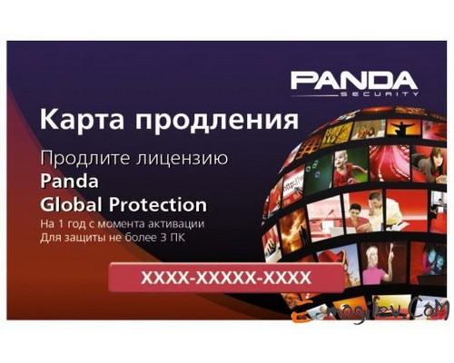 Антивирусная программа: Panda Global Protection, карточка продления на 3 ПК (на 12 месяцев)