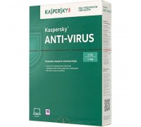 Антивирусная программа: Kaspersky Anti-Virus Russian Edition 2ПК, 1 год, BOX