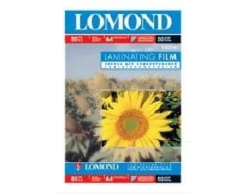 Пленка для ламинирования LOMOND 1302141 A4(218*305), 80мкм, глянцевая, 50 пакетов