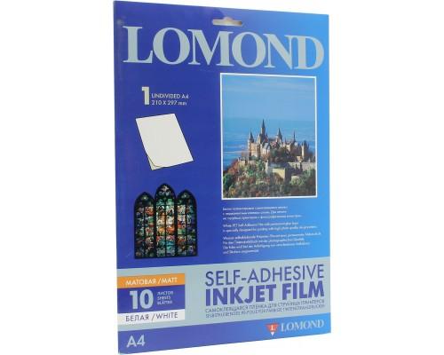 Пленка Lomond 1708461 A4 для струйной печати, самокл. 10листов