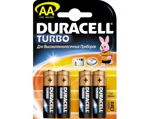 Элемент питания  AA Duracell TURBO MN 1500/LR6 B4