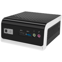 Неттоп Gigabyte BRIX GB-BLCE-4000C Intel Celeron N4000 2.6GHz 2 core DDR4-2400 4Gb up 8Gb, SSD 120GB SATAIII Intel HD Graphics 600, 1xHDMI, 1xD-Sub, 4xUSB3.0, 802.11ac Wi-Fi, BT4.0, 1GLan, черный