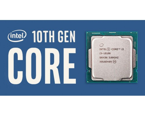Процессор Intel Core i3-10100 3,60GHz (4,30GHz) 4core HT L3-6Mb 2xDDR4-2666 HD Graphics 630 TDP-65W LGA1200 OEM