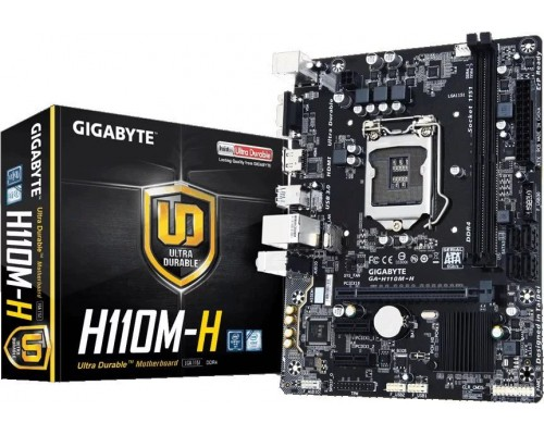 Материнская плата Gigabyte L1151 GA-H110M-H 2xDDR4 mATX RTL