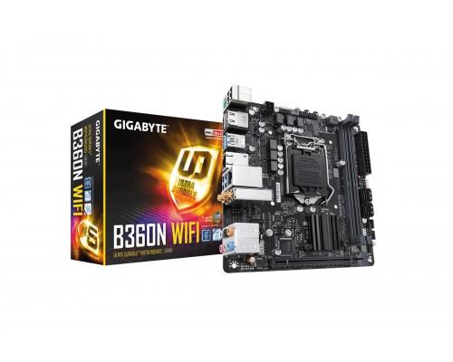 Материнская плата Gigabyte L1151 B360N WiFi 2xDDR4 1xM2 WiFi AC BT5.0 mini-ITX RTL