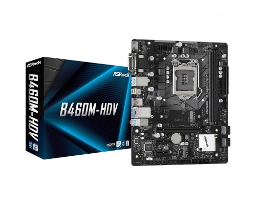 Материнская плата  ASRock S1200 B460M-HDV 2xDDR4 up 64Gb 2xM2 4xSATA RAID 0,1,5,10 1xD-Sub 1xDVI 1xHDMI1.4 mATX RTL