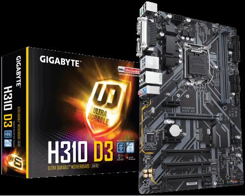 Материнская плата Gigabyte L1151 H310 D3 2xDDR4 1хM2 1xD-Sub 1xHDMI ATX RTL