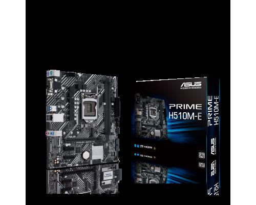 Материнская плата Asus S1200 PRIME H510M-E 2xDDR4 up 64Gb 1xM2 4xSATA 1xD-Sub 1xDP 1xHDMI1.4 mATX RTL