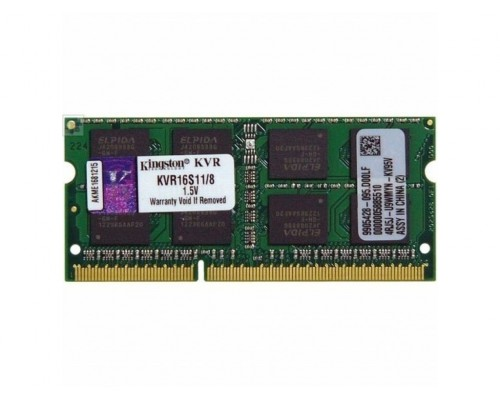 Модуль памяти DDR3 Kingston 8Gb 1600МГц CL11 SO-DIMM 1,5v ValueRAM KVR16S11/8 RTL