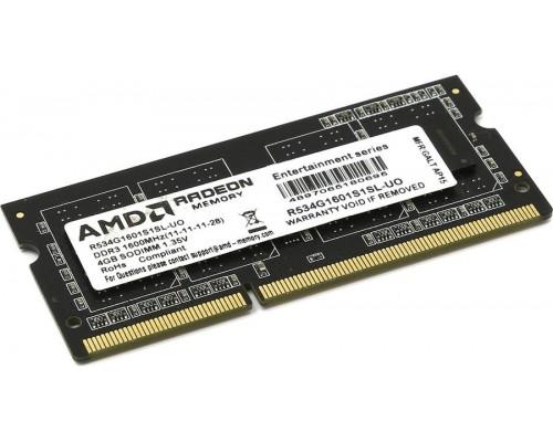 Модуль памяти DDR3 AMD 4Gb 1600MHz CL11 SO-DIMM 1,35v R534G1601S1SL-UO OEM