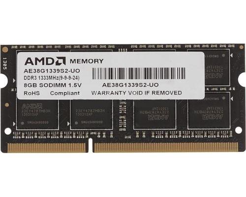 Модуль памяти DDR3 AMD 8Gb 1333MHz CL9 SO-DIMM 1,5v R338G1339S2S-UO RTL