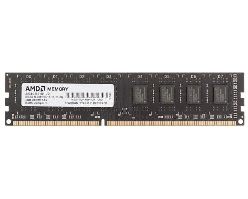 Модуль памяти DDR3 AMD 4Gb 1600MHz CL11 DIMM 1,5v R534G1601U1S-U RTL