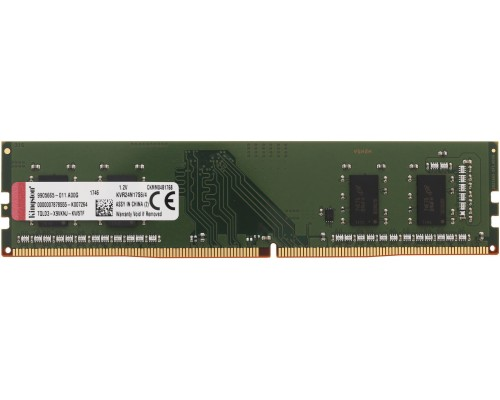 Модуль памяти DDR4 Kingston 4Gb 2400MHz CL17 DIMM 1,2v ValueRAM KVR24N17S6/4 RTL