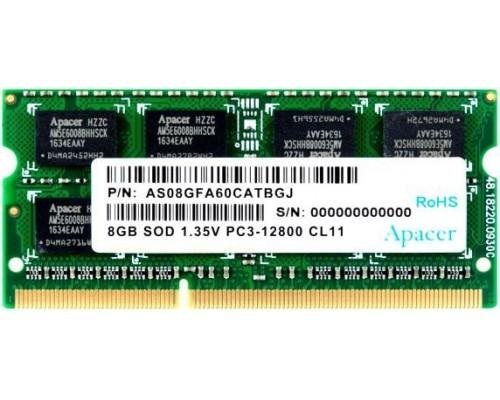 Модуль памяти DDR3 Apacer 8Gb 1600MHz CL11 SO-DIMM 1,35v AS08GFA60CATBGJ RTL