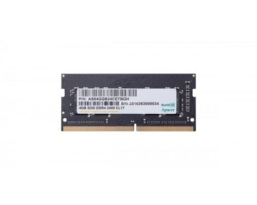 Модуль памяти DDR4 Apacer 4Gb 2400MHz CL17 SO-DIMM 1,2v AS04GGB24CETBGH RTL