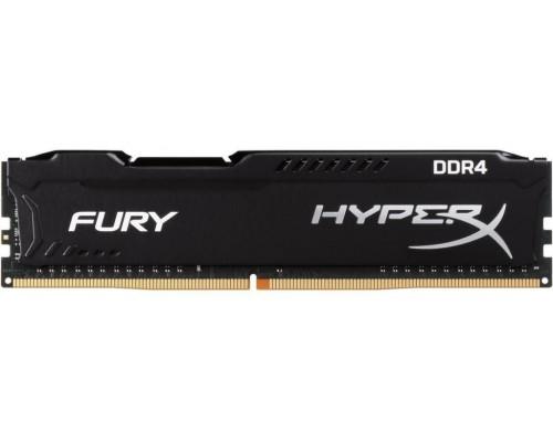 Модуль памяти DDR4 Kingston 8Gb 2666MHz CL16 DIMM 1,2v HyperX Fury HX426C16FB2/8 RTL