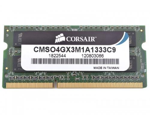 Модуль памяти DDR3 Corsair 4Gb 1333MHz CL9 SO-DIMM 1,35v CMSO4GX3M1C1333C9 RTL