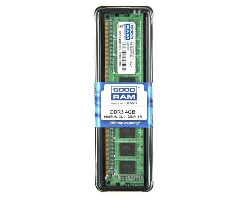 Модуль памяти DDR3 GoodRAM 4Gb 1600MHz CL11 DIMM 1,5v GR1600D364L11S/4G RTL