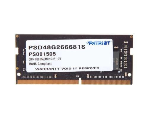 Модуль памяти DDR4 Patriot 8Gb 2666MHz CL19 SO-DIMM 1,2v PSD48G266681S RTL