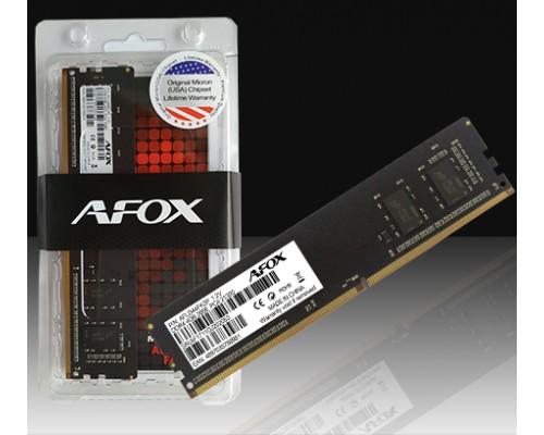 Модуль памяти DDR4 Afox 4Gb 2400MHz CL17 1,2v DIMM FLD44EK2P RTL