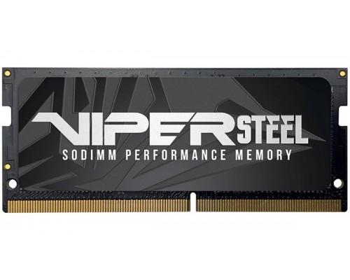 Модуль памяти DDR4 Patriot 8Gb 2666MHz CL18 SO-DIMM 1,2v Viper Steel PVS48G266C8S RTL
