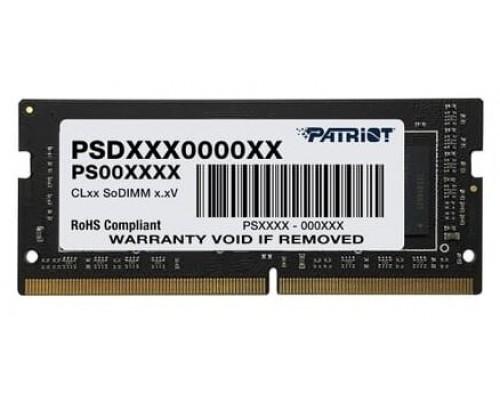 Модуль памяти DDR4 Patriot 4Gb 2666MHz CL19 SO-DIMM 1,2v PSD44G266681S RTL