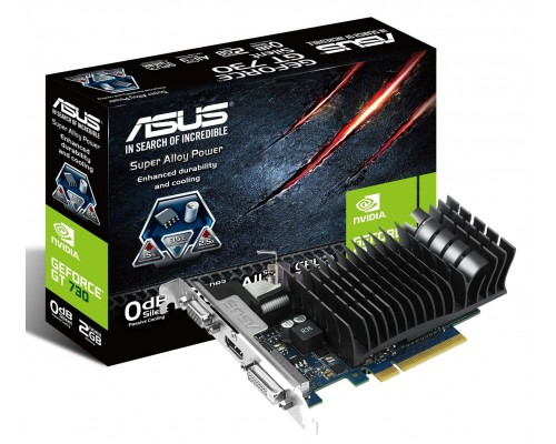 Видеокарта 2048Mb PCI-E Asus GeForce GT730 GT730-SL-2GD3-BRK 64bit GDDR3 1xD-Sub 1xDVI 1xHDMI RTL
