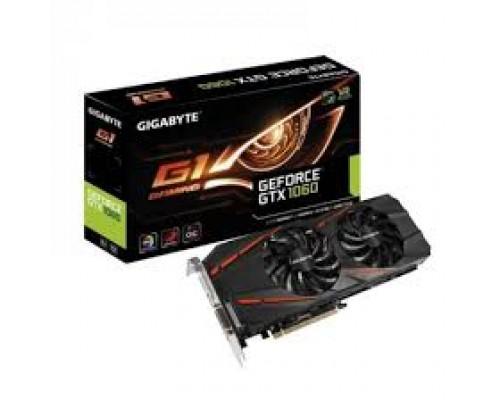 Видеокарта 6144Mb PCI-E Gigabyte GeForce GTX1060 GV-N1060G1 GAMING-6GD 192bit PCI-E 3.0 GDDR5 1xDVI 1xHDMI 3xDP RTL