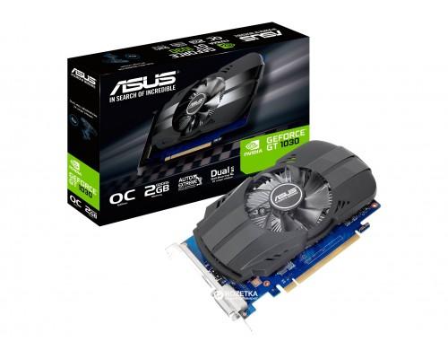 Видеокарта 2048Mb PCI-E Asus GeForce GT1030 PH-GT1030-O2G 64bit PCI-E 2.0 GDDR5 1xDVI 1xHDMI RTL