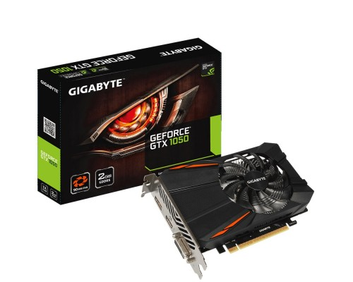 Видеокарта 2048Mb PCI-E Gigabyte GeForce GTX1050 GV-N1050D5-2GD 128bit PCI-E 3.0 GDDR5 1xDVI-D 1xHDMI 1xDP RTL