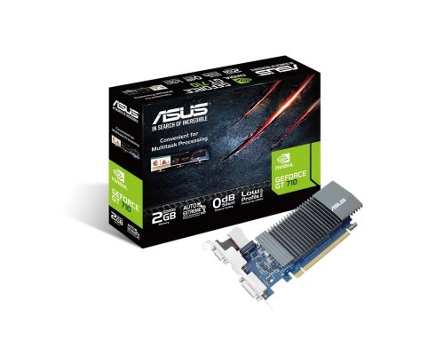 Видеокарта 2048Mb PCI-E Asus GeForce GT710 GT710-SL-2GD5-BRK 64bit GDDR5 1xD-Sub 1xDVI 1xHDMI Silent RTL