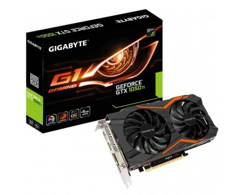 Видеокарта 4096Mb PCI-E Gigabyte GeForce GTX1050Ti GV-N105TG1 GAMING-4G 128bit PCI-E 3.0 GDDR5 1xDVI-D 1xHDMI 1xDP RTL